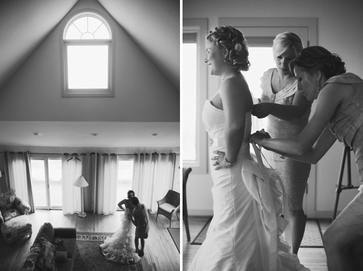Bald Head Island Pink and Navy Wedding via TheELD.com