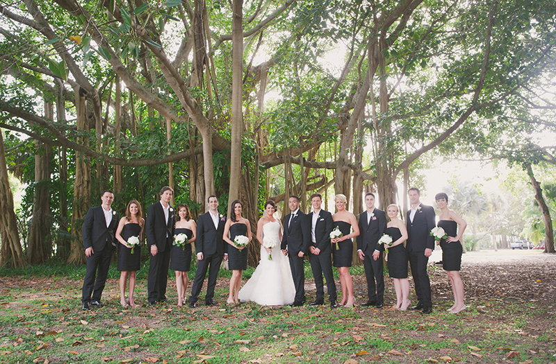 Classic Chic Black and White Florida Wedding via TheELD.com