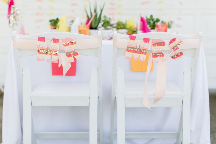 Eclectic Coral, Pink and Yellow Wedding Ideas via TheELD.com