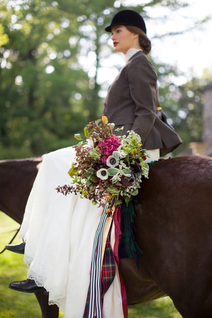 Elegant Equestrian Inspired Wedding Ideas via TheELD.com