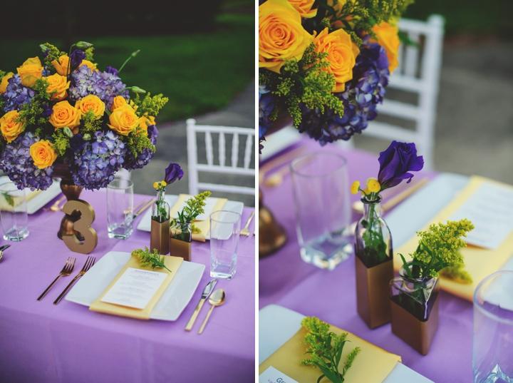 Elegant Lavender and Yellow Wedding Ideas via TheELD.com