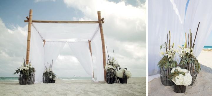 An Intimate Organic Beach Wedding via TheELD.com