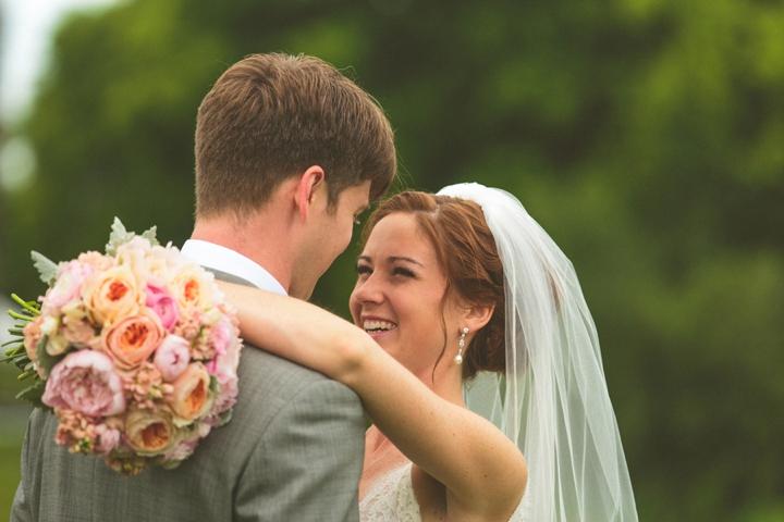 A Yellow and Peach Minnesota Farm Wedding via TheELD.com