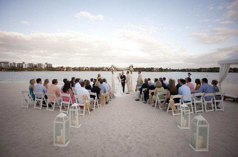 Beach Chic Light Blue and Peach Wedding via TheELD.com