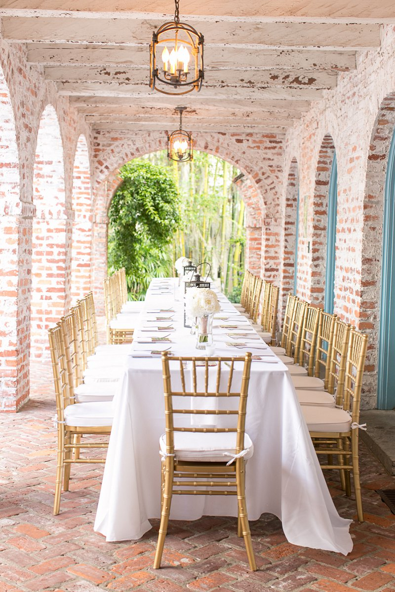 Classic Ivory Florida Wedding With A Southwestern Flair via TheELD.com