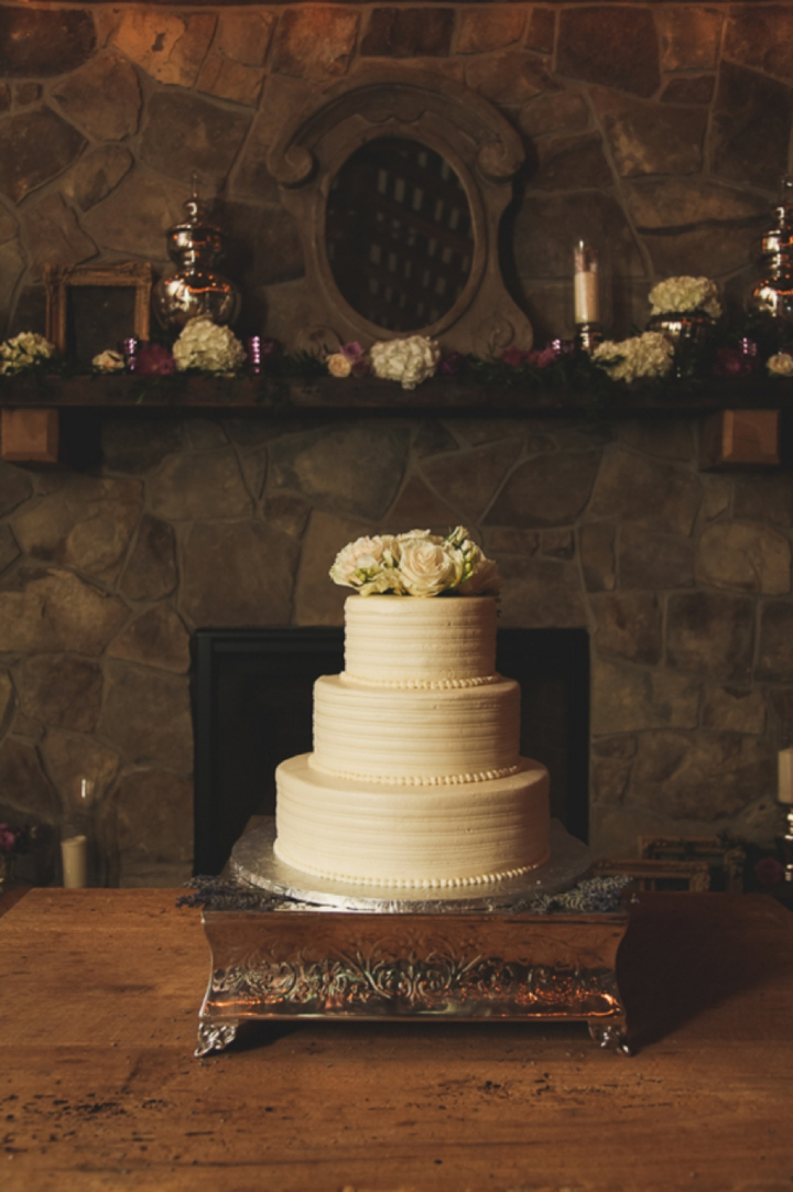 An Elegant Purple and Ivory Barn Wedding via TheELD.com