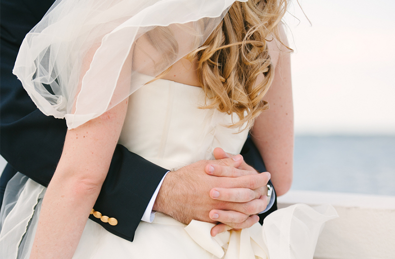 A Classic Nautical Pink and Navy Wedding via TheELD.com