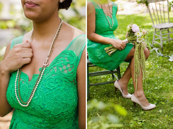 Vintage Eclectic Green Wedding Ideas via TheELD.com