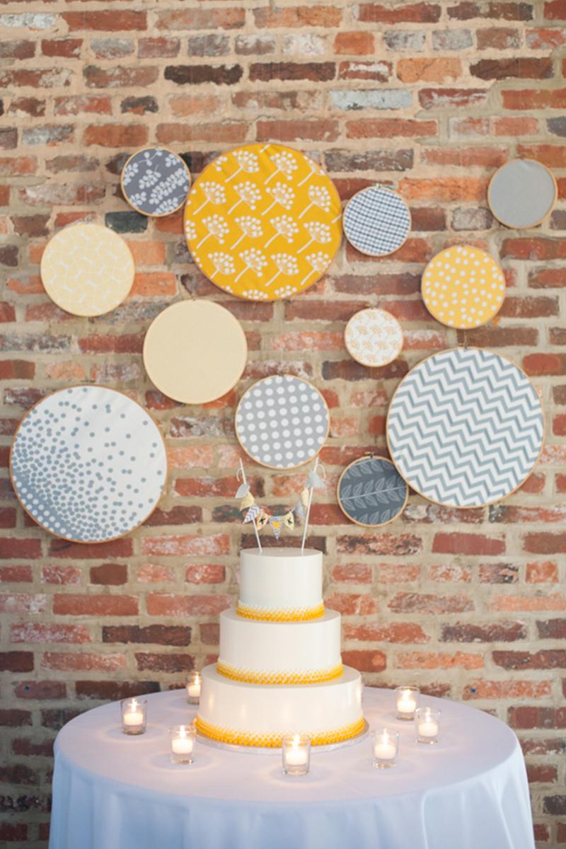 Eclectic Yellow and Gray Maryland Wedding via TheELD.com