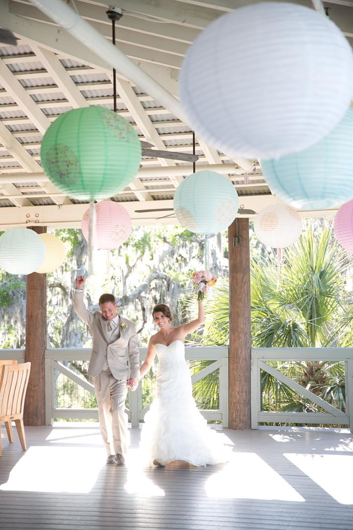 Florida Rustic Vintage Pastel Wedding via TheELD.com