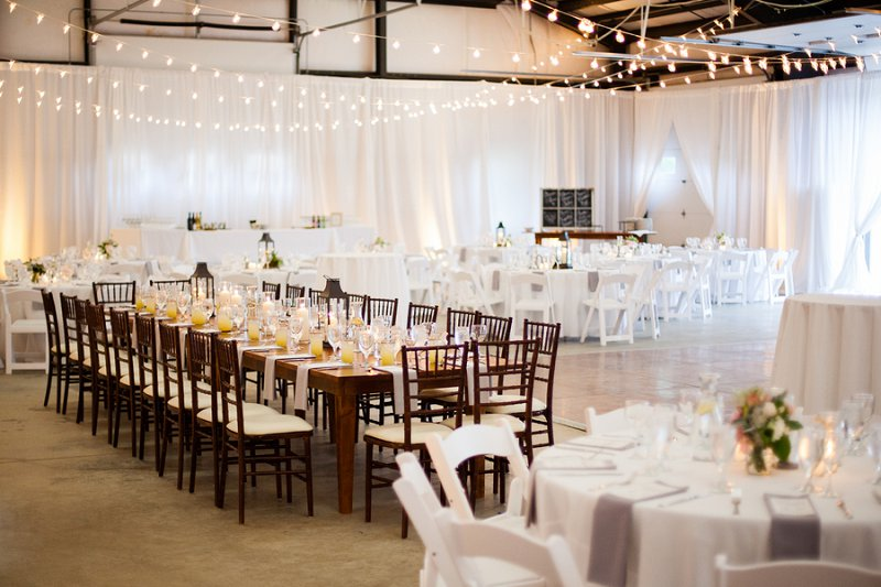 An Elegant Blush and Gray Barn Wedding via TheELD.com
