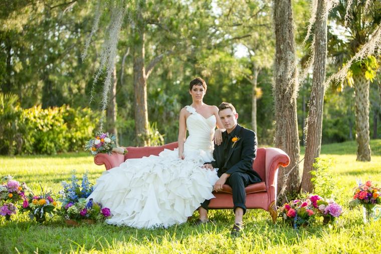 Eclectic Jewel Toned Wedding Inspiration via TheELD.com