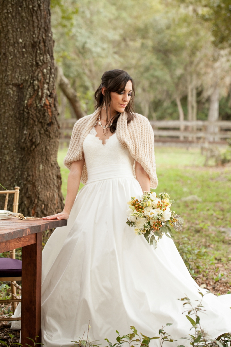Rustic Chic Champagne and Purple Wedding Inspiration via TheELD.com