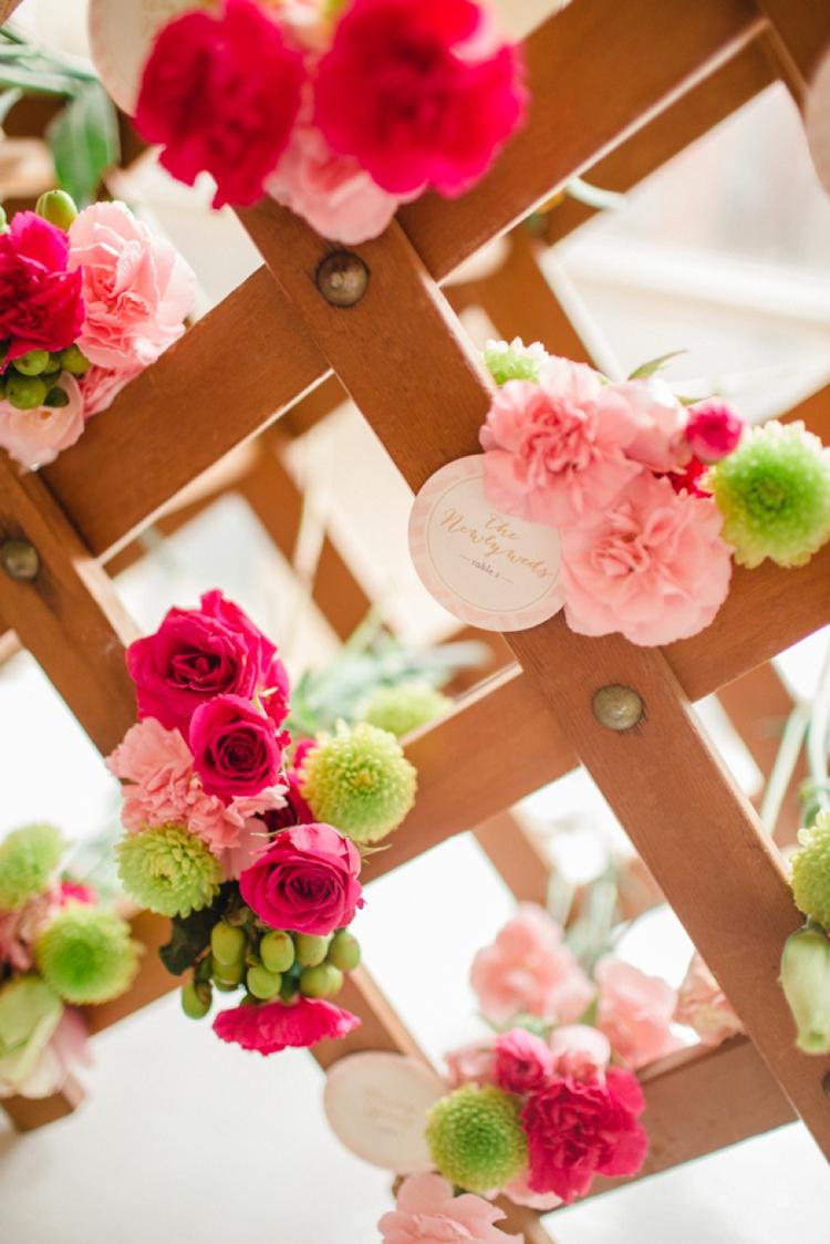 Glittering Pink and Gold Wedding Inspiration via TheELD.com
