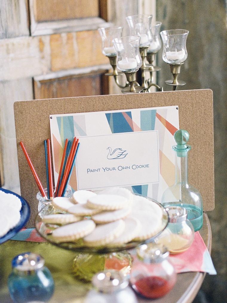 Vibrant Watercolor Engagement Party Inspiration via TheELD.com