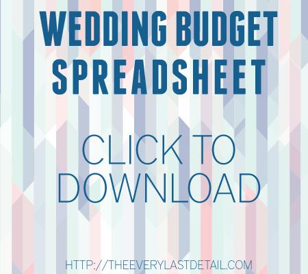 Wedding Budget 101 via TheELD.com