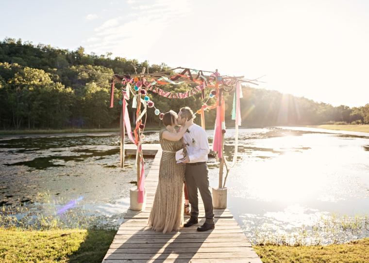 A Colorful Summer Camp Themed Wedding via TheELD.com