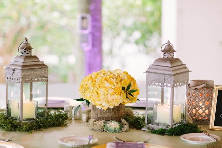 A Romantic Lavender and Yellow Wedding via TheELD.com