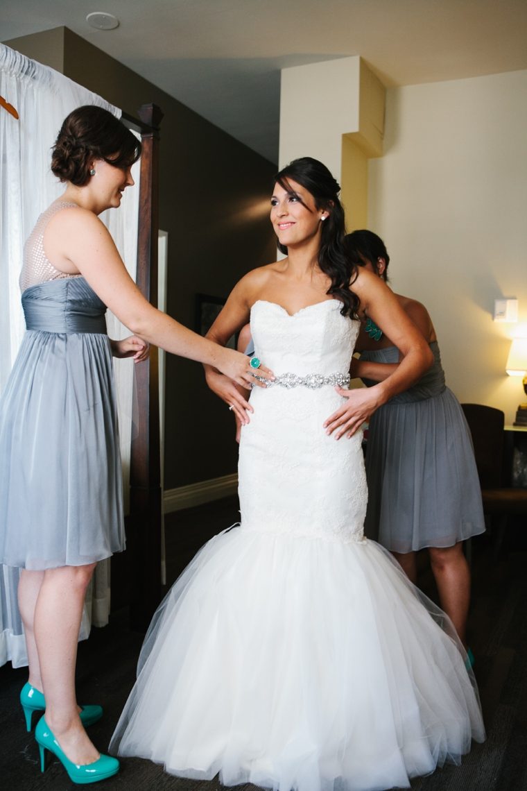 Aqua Eclectic Chic Seattle Wedding via TheELD.com