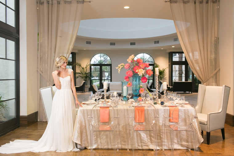 Modern Romantic Pink and Aqua Wedding Ideas via TheELD.com
