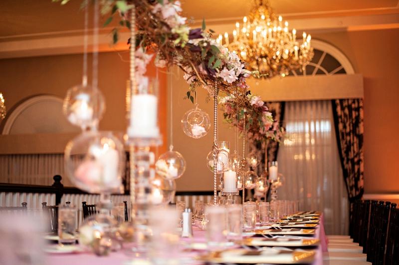 Glamorous Pink & Green Florida Wedding via TheELD.com