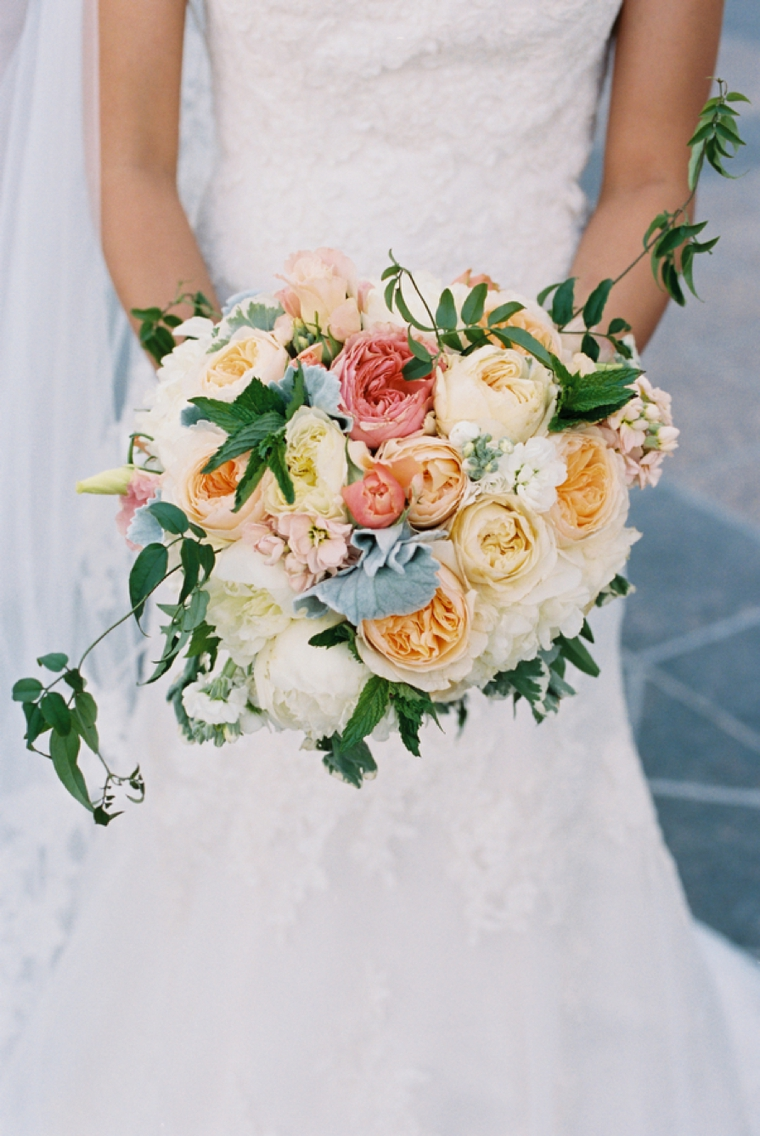 A Blush & Blue Vintage Glam Wedding via TheELD.com