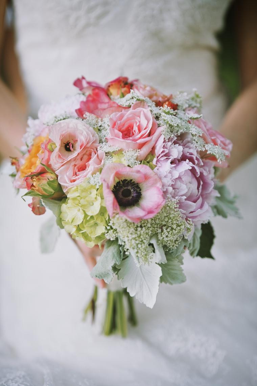 Colorful Garden Wedding Inspiration via TheELD.com