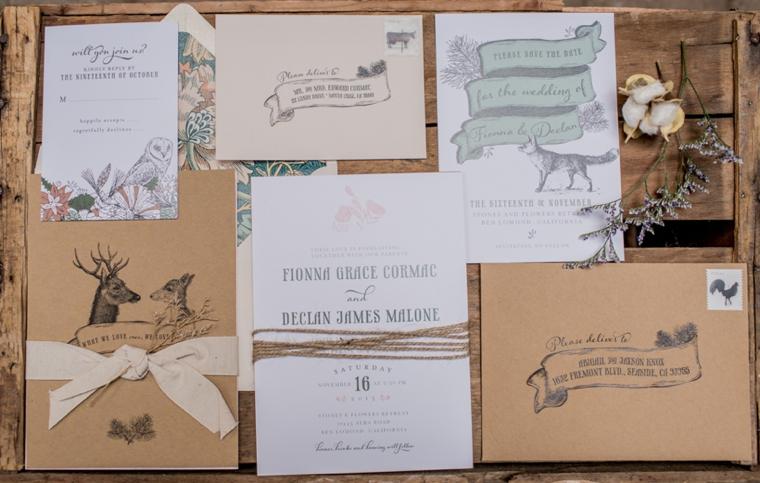 Eclectic Woodland Wedding Inspiration via TheELD.com