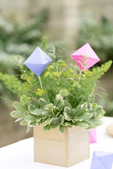 Eclectic & Colorful Geometric Wedding Ideas via TheELD.com