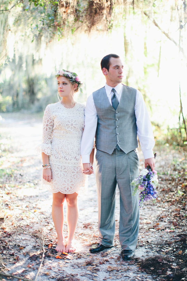 An Intimate Vintage Boho Wedding via TheELD.com