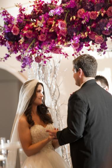 An Elegant Purple and White Wedding via TheELD.com