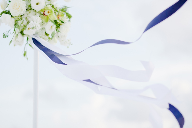 Modern Navy and Green Beach Wedding via TheELD.com
