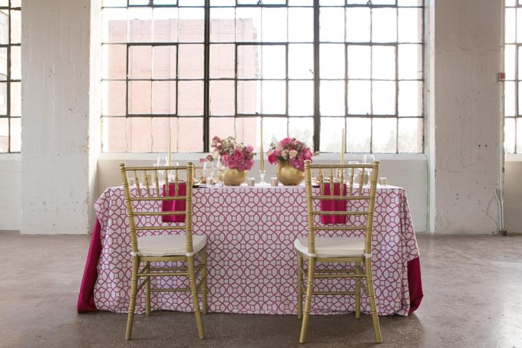 Modern Chic Pink and Gold Wedding Ideas via TheELD.com