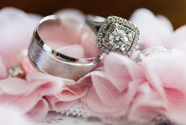 Classic Pink and Silver Bahamas Destination Wedding via TheELD.com