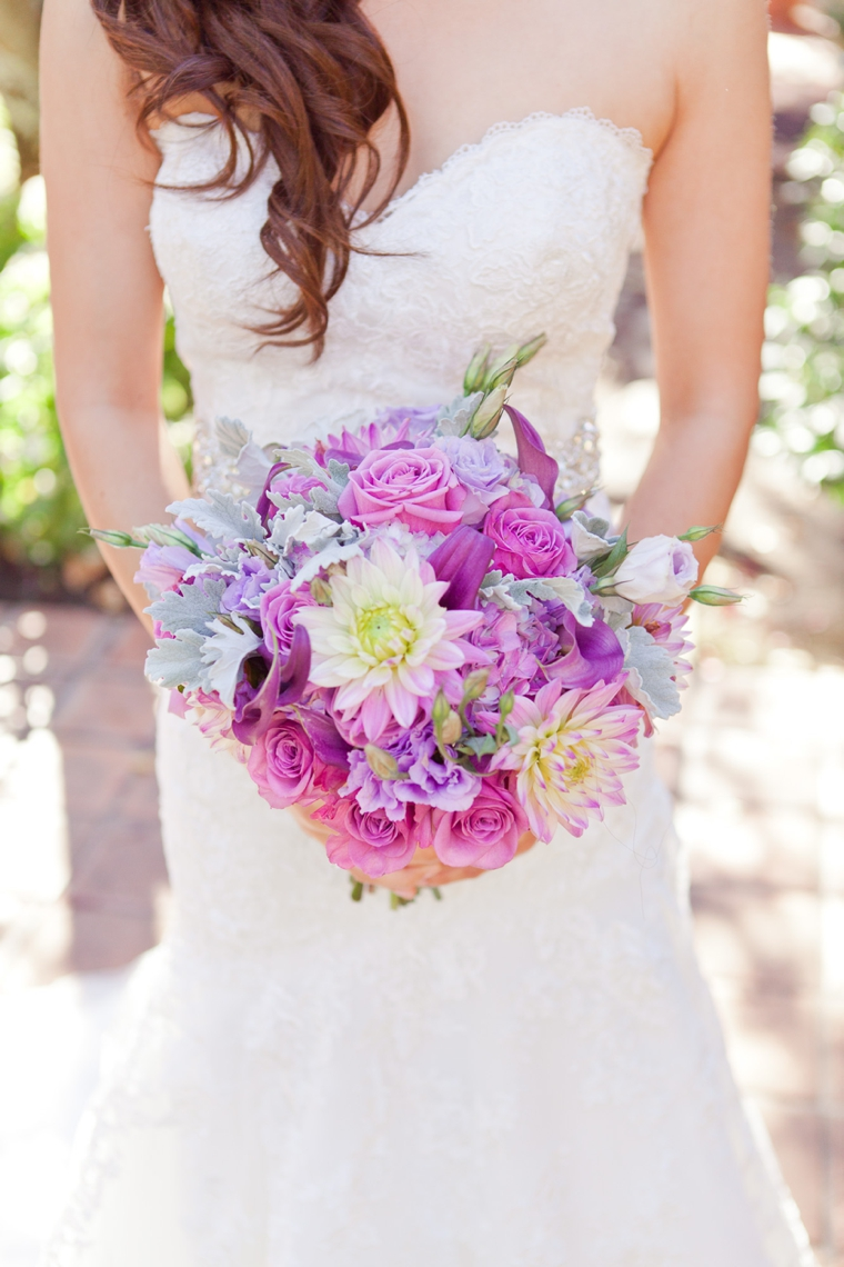 A Romantic Radiant Orchid Wedding via TheELD.com