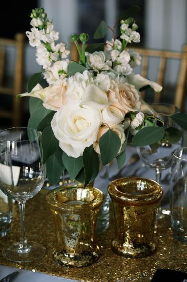 Modern Black and Gold Wedding Ideas via TheELD.com