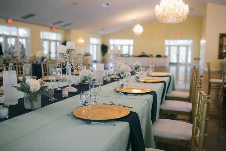 A Navy and Mint Florida Farm Wedding via TheELD.com