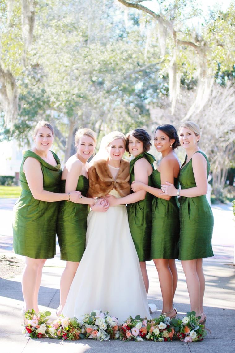 Nature Inspired Pink, Peach, & Green Florida Wedding via TheELD.com