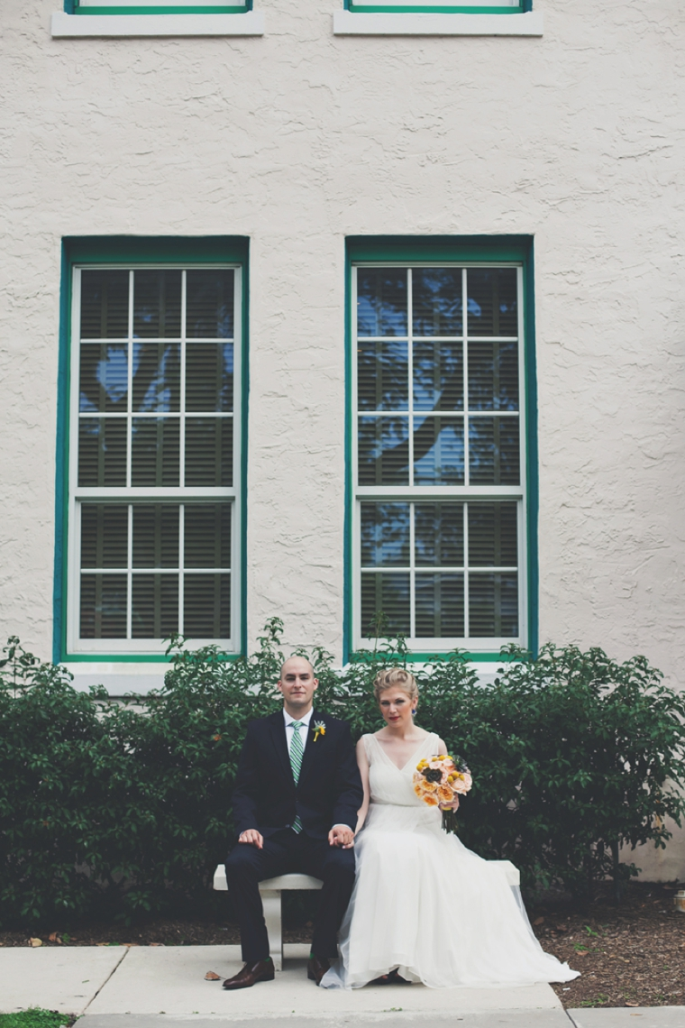 Eclectic & Chic Navy and Yellow Wedding via TheELD.com