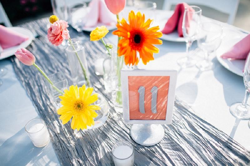 Colorful & Modern Garden Wedding via TheELD.com