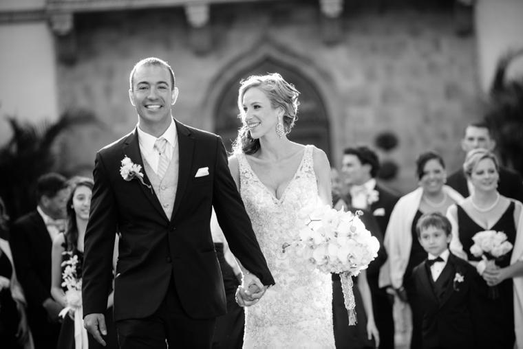 An Elegant Gold and White Sarasota Wedding via TheELD.com