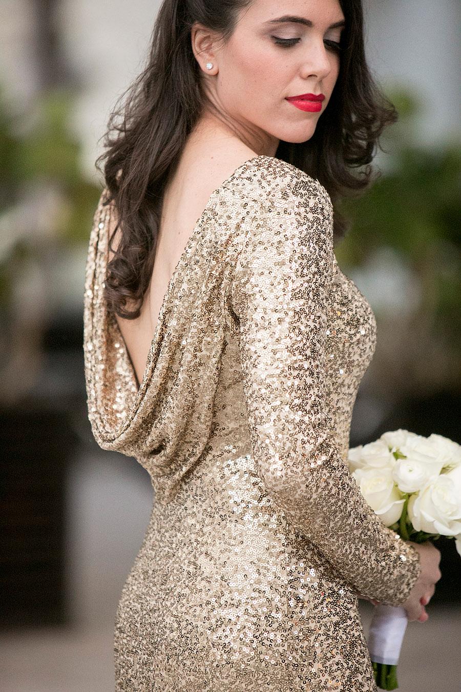 Modern Chic Pink & Gold Miami Wedding via TheELD.com