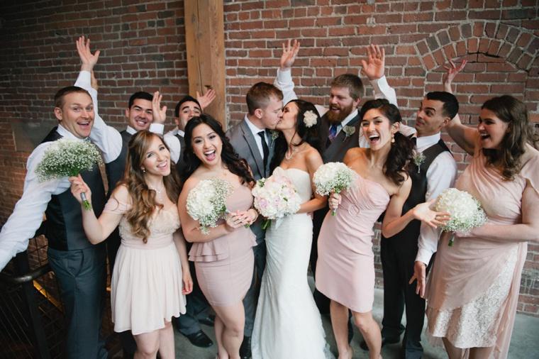 Romantic Chic Blush & Gold Seattle Wedding  via TheELD.com
