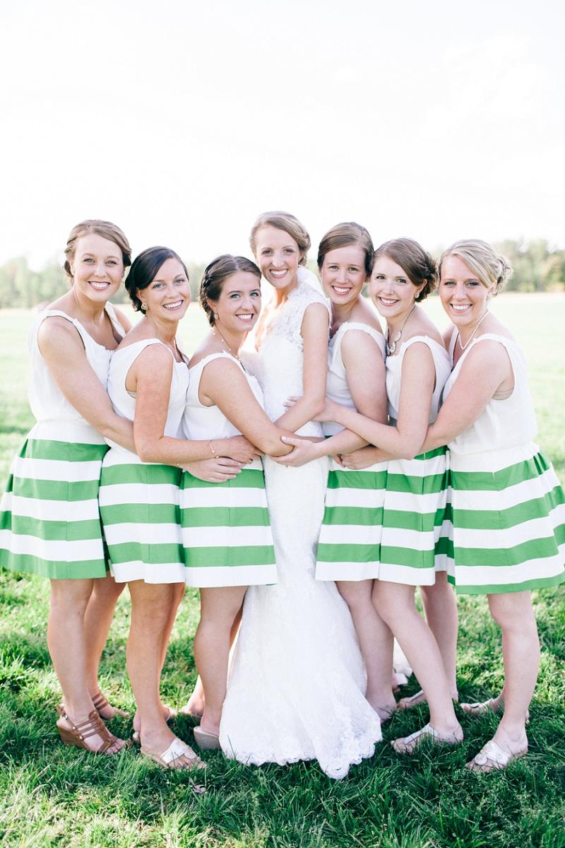 A Cheerful Green and Yellow Backyard Wedding via TheELD.com