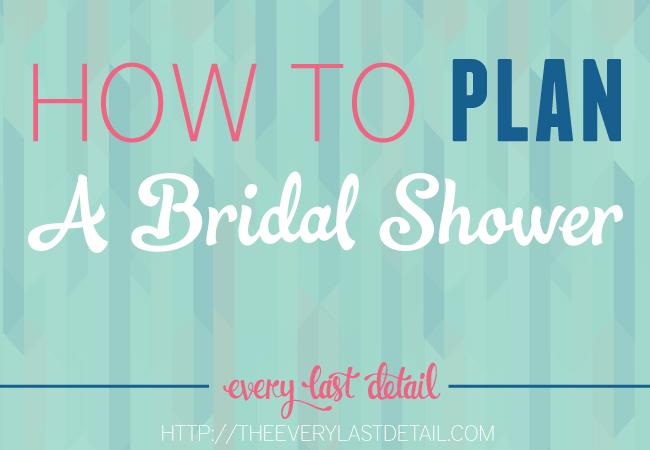 How To Plan A Bridal Shower via TheELD.com