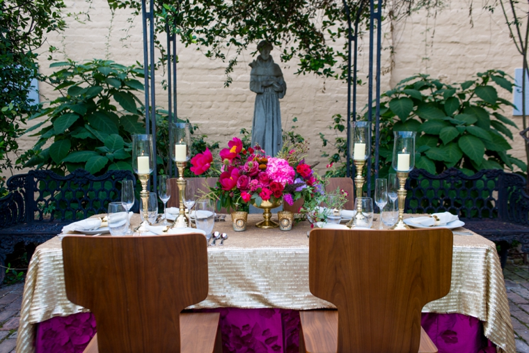 Pink and Red Wedding Farewell Brunch Inspiration via TheELD.com