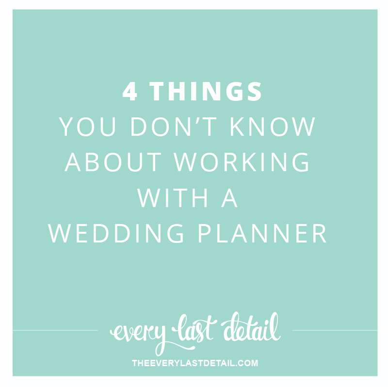 4 Things you dont know about working with a wedding planner via TheELD.com