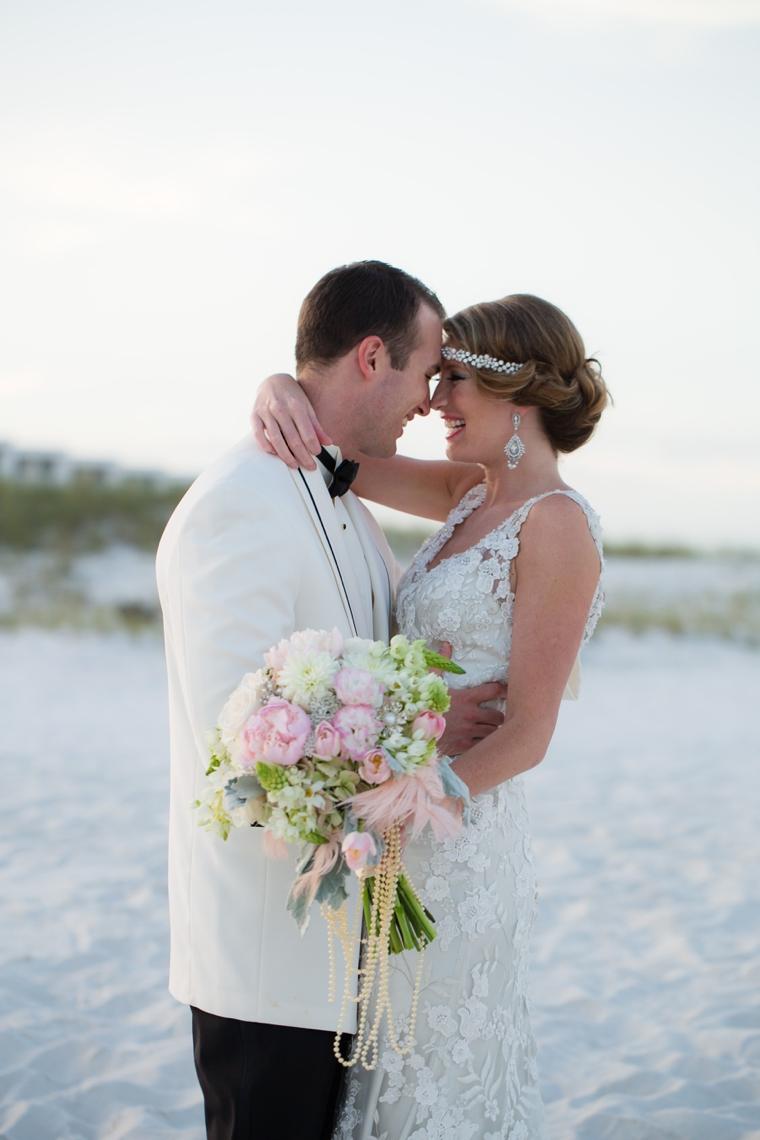 Pink & Silver Great Gatsby Wedding Ideas via TheELD.com