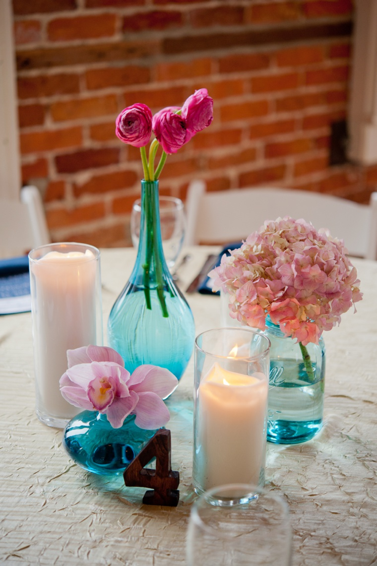 Lovely Pink and Aqua Wedding  via TheELD.com