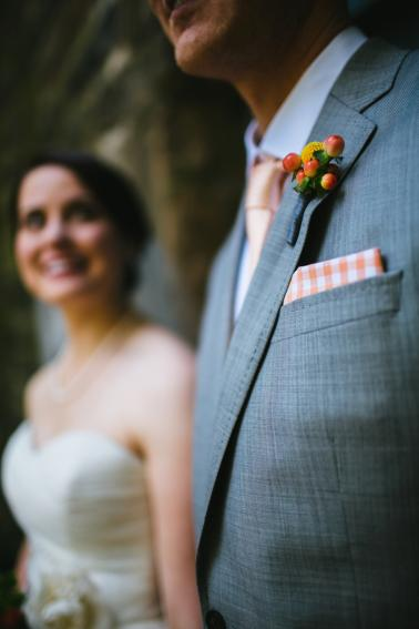A Polka Dot Inspired Colorful Wedding via TheELD.com
